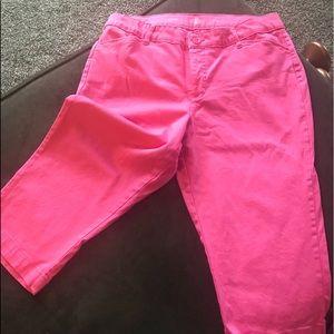 💜 3 for $15. St. John's Bay pink Capri size 16